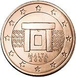 2 cents (other side, country Malta) 0.02